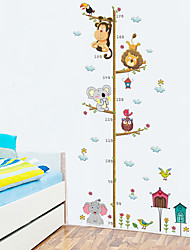 cheap -Fanxi New Cartoon Elephant Lion Zoo Height Paste Children Room Wall Decoration Wall Stickers 30*90cm