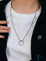 cheap -Men's Necklace Friends Romantic Vintage European Trendy Alloy Silver 60 cm Necklace Jewelry 1pc For Street Festival