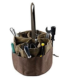 cheap -Canvas Cylinder Tool Bag Garden Hardware Tool Bag Portable Drawstring Tool Storage Bag