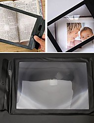 cheap -2pcs Large Reading 3X Magnifier Big A4 Full Page Sheet Magnifying Glass Book Reading Lens Page Reading Glass Lens Magnification