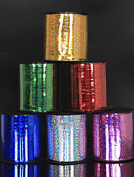 cheap -Wedding Room Holiday Decoration Arrangement Of Colorful Ribbons 250 Yards Laser Ribbons Tied Floating Air Ball Ropes
