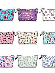 cheap -Cross Border Express Explosion 3d Digital Printing Lipstick Lip Makeup Bag Custom Bag Women's Storage Wash Bag 22*13.5cm