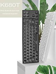 cheap -AJAZZ K680T Wireless Bluetooth USB Wired Dual Mode Mechanical Keyboard Mechanical White Backlit 68 pcs Keys