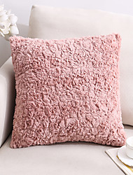 cheap -embossed plush pillow amazon home furnishing products double-sided solid color sofa cushion cover big rabbit fur office pillow