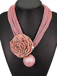 cheap -May Polly  Fashion Lace Rose Large imitation pearl Pendant Necklace