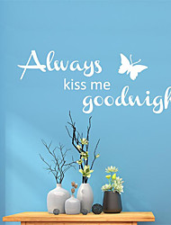 cheap -78*29cm Kiss Me Wall Stickers Modern Simple Living Room Bedroom Background Wall Decoration Wall Stickers