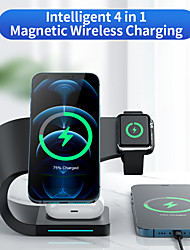 cheap -15 W Output Power USB USB C Phone Charger 4 in 1 Wireless Chargers Portable Charger For Cellphone Smart Watch