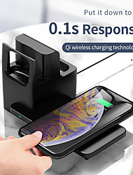 cheap -10 W Output Power USB C 3 in 1 Wireless Chargers Phone Charger Portable Charger For Cellphone Smart Watch