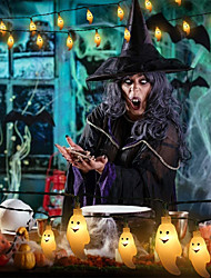 cheap -1.5m 6m String Lights 10/40 LEDs 1 set Warm White White Multi Color Halloween Waterproof Funny Decorative AA Batteries Powered