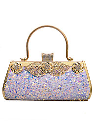 cheap -Women's Bags Polyester Evening Bag Sequin Chain Color Block Party Wedding Evening Bag Chain Bag Blue Blushing Pink Silver Black