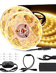 cheap -5m 10m Dimmable LED Light Strip Kit 300 Units SMD 2835 LEDs 12V LED Ribbon Flexible Under Cabinet Lighting Strips Non-waterproof LED Tape CE Listed