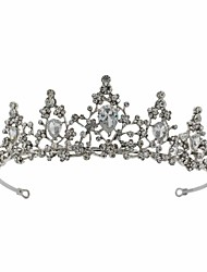 cheap -S100 Bridal Crown Headdress Wedding Jewelry Crystal Zircon Hair Accessories Birthday Headband