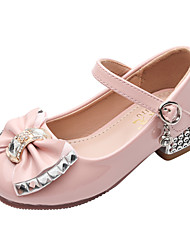 cheap -Girls' Heels Flower Girl Shoes Formal Shoes Princess Shoes Patent Leather PU Walking Wedding Cute Dress Shoes Little Kids(4-7ys) Big Kids(7years +) Daily Party & Evening Walking Shoes Rhinestone