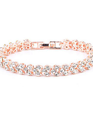 cheap -Tennis Bracelet Synthetic Diamond Classic Wedding Fashion Cute Alloy Bracelet Jewelry Gold For Gift Formal Date
