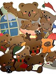 cheap -2020 cute bear 60pcs/lot waterproof cartoon stickers for luggage laptop bike motorcycle phone car case decal sticker