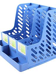 cheap -Plastic Back to school gift Multi-layer Large Capacity Desk Organizer Desktop Storage Box Pen Pencil Holder Blue