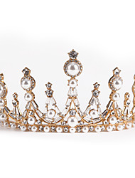 cheap -Wedding Headwear Bride Crown Pearl Crown Hair Accessories Atmospheric Adult Alloy Wedding Dress Accessories