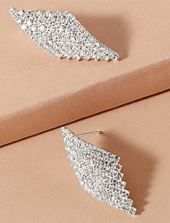 cheap -Women's Earrings Geometrical Stylish Simple Fashion Cute Sweet Earrings Jewelry Silver For Gift Date Beach Promise Festival 1 Pair