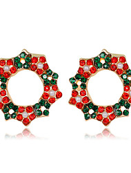 cheap -Women's Stud Earrings Crystal Earrings 3D Fashion Fashion Gold Plated Earrings Jewelry Rainbow color For Christmas Halloween Party Evening Gift Festival 1 Pair