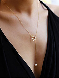 cheap -Women's Pendant Necklace Charm Necklace Classic Precious Fashion Imitation Pearl Chrome Gold 45 cm Necklace Jewelry 1pc For Christmas Party Evening Street Gift Birthday Party