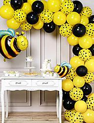 cheap -Insect Bee-shaped Aluminum Film Balloon Birthday Package Cartoon Decorative Polka Dot Balloon