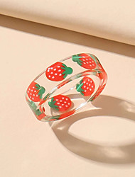 cheap -Ring Classic Red Acrylic Strawberry Artistic Simple Cartoon 1pc One Size / Women's