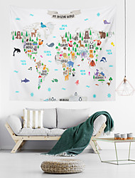 cheap -World Map Wall Tapestry Art Decor Blanket Curtain Hanging Home Bedroom Living Room Decoration Polyester Cartoon