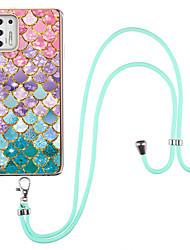 cheap -Phone Case For Motorola Back Cover Moto G Stylus Shockproof Dustproof Flower Marble TPU