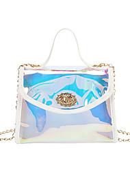 cheap -Women's Bags PVC Plastic Crossbody Bag Chain Fashion Daily Date Handbags Chain Bag Yellow Blushing Pink White Black