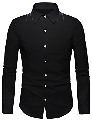 cheap -Men's Shirt 3D Print Wings 3D Print Button-Down Long Sleeve Street Regular Fit Tops Casual Fashion Breathable Comfortable Black / Sports