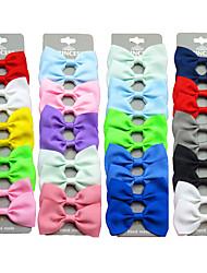 cheap -4 Pcs/set Grosgrain Ribbon Hair Bow Tie Band Clip Cute Baby Girl Color Hairpin Children's Hair Accessories