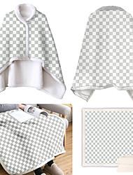 cheap -Double Layer Lamb Wool Wearable Cloak Lazy Blanket Magic Cloak Air Conditioning Blanket Flamingo