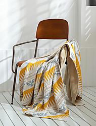 cheap -Nordic style Geometric pattern sofa blanket cover blanket office siesta shawl blanket knitted wool blanket leisure air conditioning blanket