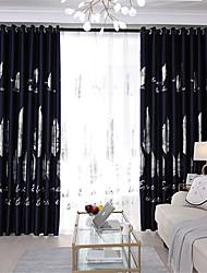 cheap -Window Drapes Curtain Window Treatments 2 Panels Room Darkening Leaves Botanical Plants for Living Room Bedroom Patio Sliding Door