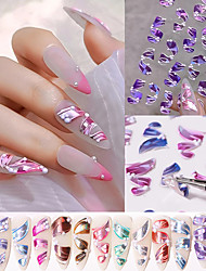cheap -6 pcs/Set 5D Relief Ribbon Nail Stickers for Art Decoration Fashion Multicolor Nails Accessories All for Manicure Design
