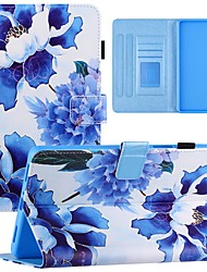 cheap -Case For Samsung Tablet Full Body Case Samsung Tab A 10.1(2019)T510 Samsung Tab A 10.1(2019)T515 Samsung Tab A 8.0(2019)T290/295 Card Holder Shockproof Dustproof Graphic Flower PU Leather
