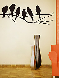 cheap -Branch Bird Wall Stickers Bedroom Living Room Removable Pre-pasted PVC Home Decoration Wall Decal 1pc