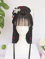cheap -halloweencostumes Modelling Wig Hanfu Chinese Ancient Style Wig Vintage Wig Multi-purpose Ancient Costume Whole Wig Cap Custom Product
