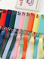 cheap -Phone Case For Apple Back Cover iPhone 12 Pro Max 11 SE 2020 X XR XS Max 8 7 Shockproof Dustproof Solid Colored Silicone