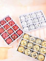 cheap -Pendant Christmas Articles Gift Decoration Balls 6cm 12 Boxed PVC Christmas Display Balls