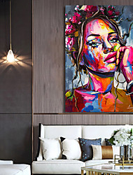 cheap -Wall Art Canvas Prints Painting Artwork Picture Abstract People Colorful Home Decoration Decor Rolled Canvas No Frame Unframed Unstretched