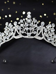 cheap -Bridal Crown Headdress New Wedding Accessories Wedding Crystal Jewelry Mori Crown Princess Birthday Korean Style Headband