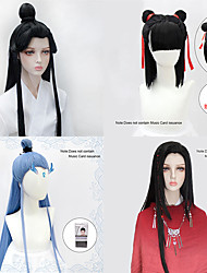 cheap -halloweencostumes Xielian Cosplay Wig Natural Black Beauty Tip Split Contract Letting Shooting Props High Temperature Fiber