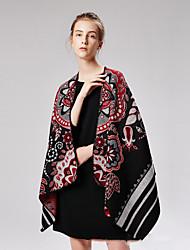 cheap -Variety cashmere U fork flower cape double shawl cape autumn winter thick warm 130x150CM