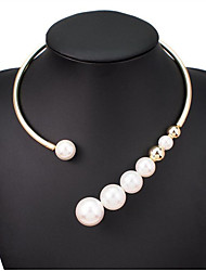 cheap -Pearl Necklace Fashion accessories metal moment Pearl Necklace