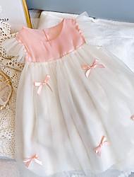 cheap -[18m-7y]sweet pink bow mesh dress
