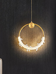 cheap -LED Wall Light 25 cm Circle Design Square Line Design Line Design Flush Mount Lights Acrylic Artistic Style Modern Style Classic Gold Electroplated Artistic Nordic Style 220-240V