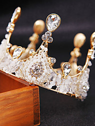 cheap -Bride's Crown Baking Cake Decoration European and American Pure Handmade Crystal Crown Fashion Atmosphere New Jewelry