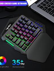 cheap -35 Key One Hand Film Keyboard Left Hand Mechanical Feel One Hand Backlight Keyboard
