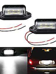 cheap -OTOLAMPARA Universal DC12V LED Tag License Plate Lamp Light for Truck SUV Trailer Van Step Courtesy Lights White 6000K Dome Cargo Lights or Under Hood Lights 2pcs